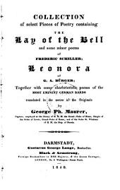 The Lay of the Bell and some minor poems of Schiller ...