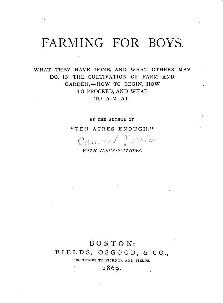 Farming for Boys