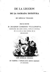 De la Leccion de la Sacrada Escritura en lenguas vulgares