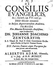 De consiliis evangelicis, ex 1 Cor. VII, 35