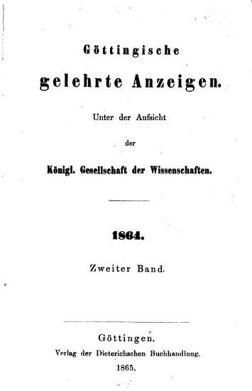 G  ttingische gelehrte Anzeigen PDF