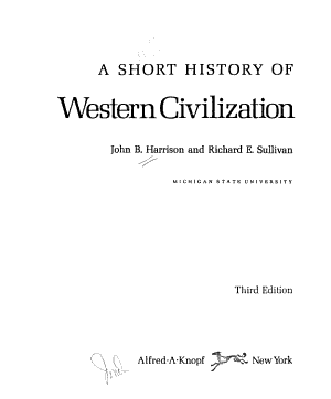A Short History of Western Civilization