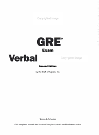 GRE Exam Verbal Workbook Book