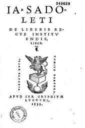 Ia. Sadoleti De Liberis recte instituendis liber