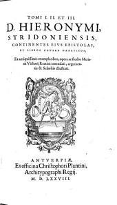 Tomvs ... Opervm D. Hieronymi: Volume 1