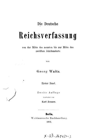 Die Deutsche Reichsverfassung  Bd PDF