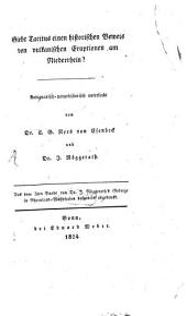 Giebt Tacitus einen historischen Beweis von vulkanischen Eruptionen am Niederrhein?: Antiquarisch-naturhistorisch untersucht