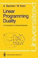 Linear Programming Duality PDF