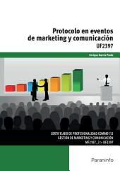 UF2397 - Protocolo en eventos de marketing y comunicación