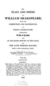 The plays and poems of William Shakspeare: Volume 9