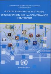 Guide des bonnes pratiques en matière d'information sur la gouvernance d'entreprise