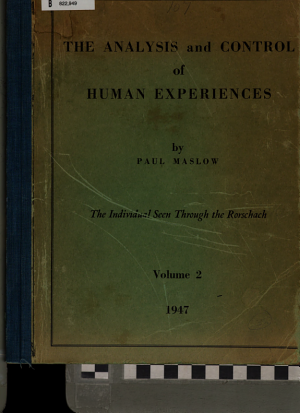 The Analysis and Control of Human Experiences