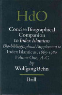 Concise Biographical Companion to Index Islamicus PDF