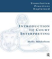Introduction to Court Interpreting PDF