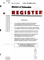 District of Columbia Register PDF