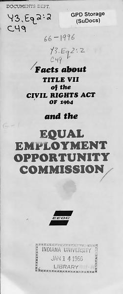 Facts about Title VII of the Civil Rights Act of 1964 PDF
