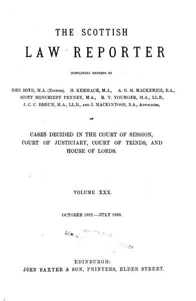 The Scottish Law Reporter PDF