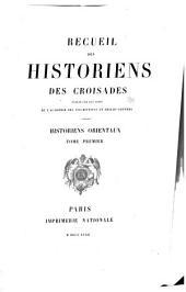 Recueil des historiens des croisades: Volume1