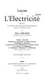 Leçons sur l'électricité