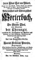 In welchem die Kunstw  rter der Medicin und Chirurgie mit ihrer Erkl  rung  Eintheilung und Etymologie oder Ursprung enthalten sind PDF