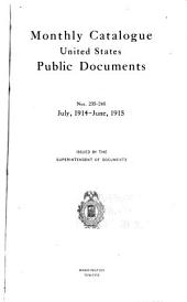 Monthly catalogue, United States public documents: Issues 235-246