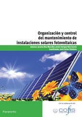 ORGANIZACION Y CONTROL MANTENIMIENTO INSTALACION SOLAR