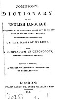 Johnson s Dictionary of the English language  containing many additional words  also  A compendium of chronology   c    PDF