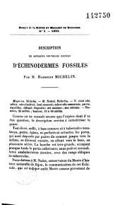 Description de quelques nouvelles espèces d'échinodermes fossiles