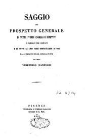 Saggio del prospetto generale di tutti i verbi anomali e difettivi sì semplici che composti e di tutte le loro varie configurazioni di voci dall'origine della lingua in poi