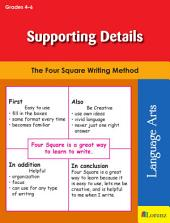 Supporting Details: The Four Square Writing Method for Grades 4-6