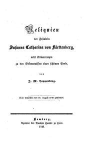 Reliquien ... nebst Erläuterungen zu den Bekenntnißen einer schönen Seele von J. M. Lappenberg