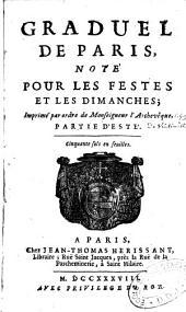 Graduel de Paris, noté pour les fêtes et les dimanches
