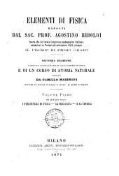 Elementi di fisica esposti da Agostino Riboldi: Nel quale sono trattati: I preliminari di fisica, la meccanica e la chimica, Volume 1