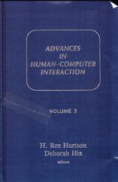 Advances in Human-computer Interaction: Volume 3