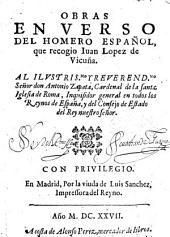 Obras en verso del Homero español