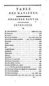 Grammaire raisonnée ou Cours théorique et pratique de la langue française