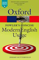 Fowler s Concise Dictionary of Modern English Usage PDF