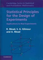 Statistical Principles for the Design of Experiments PDF