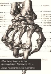 Plastische Anatomie des menschlichen Körpers. Ein Handbuch für Künstler und Kunstfreunde