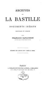 Archives de la Bastille: 1675-1686
