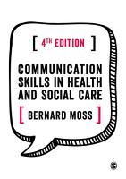 Communication Skills in Health and Social Care PDF