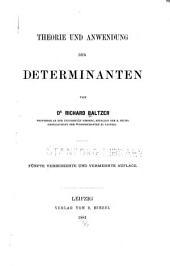 Theorie und anwendung der determinanten