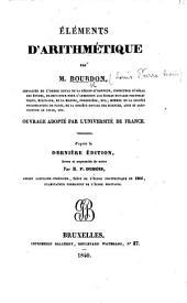 Éléments d'arithmétique ... d'après la dernière édition, revue et augmentée de notes par M. F. Dubois