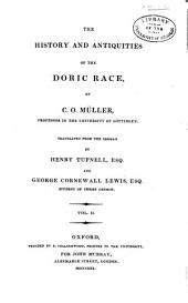 The history and antiquities of the Doric race: Volume 2