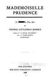 Mademoiselle Prudence: a sketch in one act