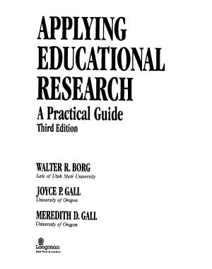 Applying Educational Research PDF