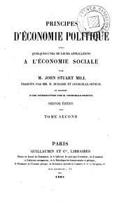 Principes d'économie politique, 2: avec quelques-unes de leurs applications a l'économie sociale, Volume1