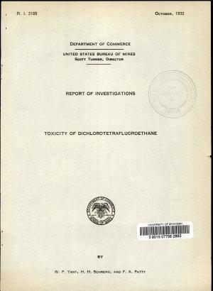 Toxicity of Dichlorotetrafluoroethane PDF