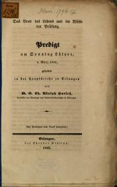 Das Brod des Lebens und die Wüste der Prüfung: Predigt am Sonntag Lätare, 6. März 1842 ...