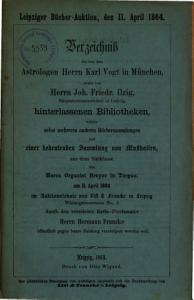 Veilingcatalogus  boeken Karl Vogt  Joh  Friedr  Ilzig  Beyer  11 april 1864 PDF